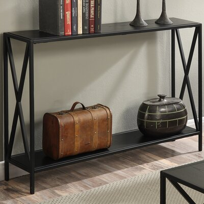 Abbottsmoor Metal Frame Console Table Finish: Black