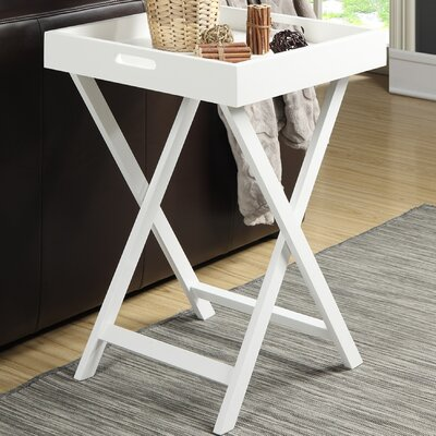 Lockheart End Table Finish: White