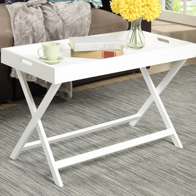 Lockheart Coffee Table with Removable Tray Color: White