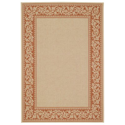 Antora Scroll Potters Clay Indoor/Outdoor Area Rug Rug Size: 311 x 56