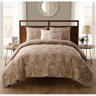 Briar Ridge 5 Piece Comforter Set Color: Spice, Size: Full/Queen
