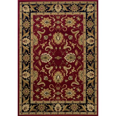 Ardaghmore Red Area Rug Rug Size: Rectangle 51 x 75