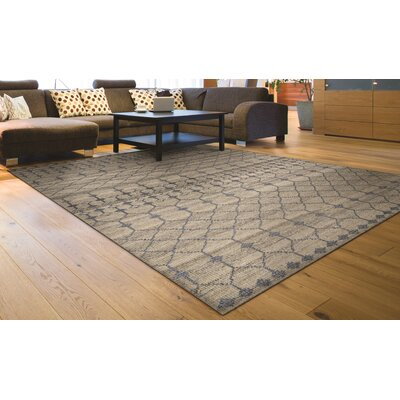 Cargile Hand-Knotted Natural/Gray Area Rug Rug Size: Rectangle 56 x 8