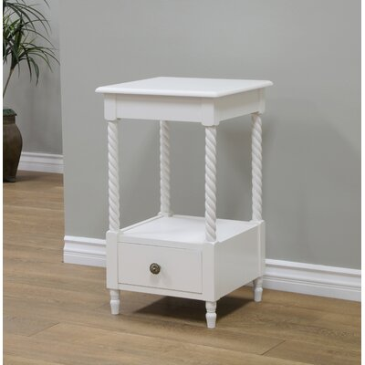 Pratolina 1 Drawer Nightstand Color: White