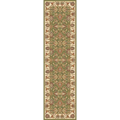 Bellville Green / Ivory Area Rug Rug Size: Rectangle 53 x 77
