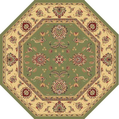 Bellville Sage / Beige Area Rug Rug Size: Rectangle 53 x 77