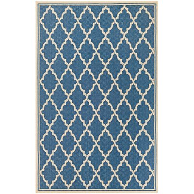 Cardwell Blue Indoor/Outdoor Area Rug Rug Size: Runner 23 x 710