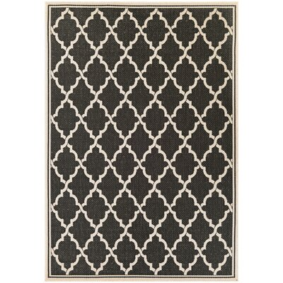 Cardwell Ocean Port Black/Sand Indoor/Outdoor Area Rug Rug Size: Runner 23 x 119