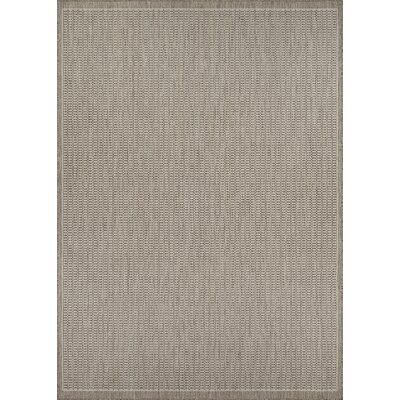 Westlund Champagne/Taupe Indoor/Outdoor Area Rug Rug Size: Rectangle 53 x 76