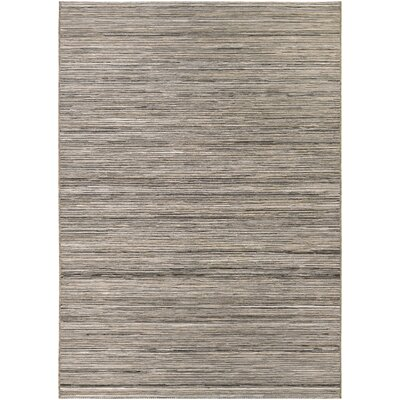 Gillenwater Light Brown/Silver Indoor/Outdoor Area Rug Rug Size: 53 x 76