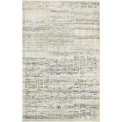 Cargile Hand-Knotted Natural/Black Area Rug Rug Size: Rectangle 35 x 55