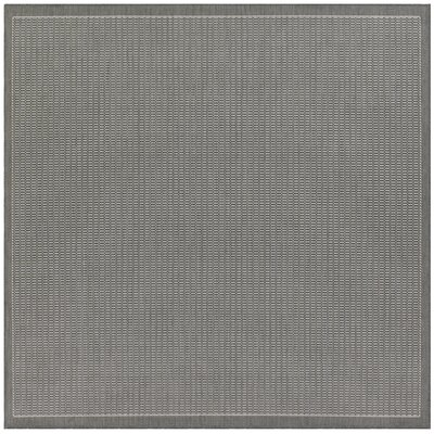 Ariadne Saddle Stitch Gray Indoor/Outdoor Area Rug Rug Size: Square 76