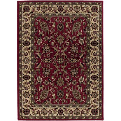 Danesfield Red Area Rug Rug Size: 98 x 131