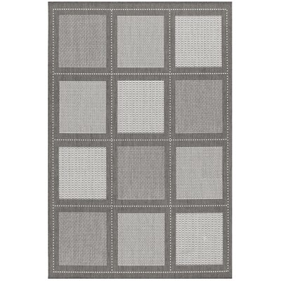 Westlund Gray Indoor/Outdoor Area Rug Rug Size: Rectangle 39 x 55