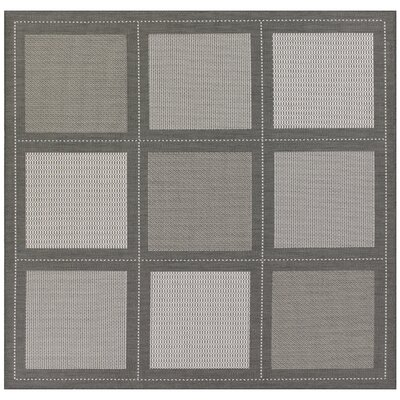 Westlund Gray Indoor/Outdoor Area Rug Rug Size: Square 76