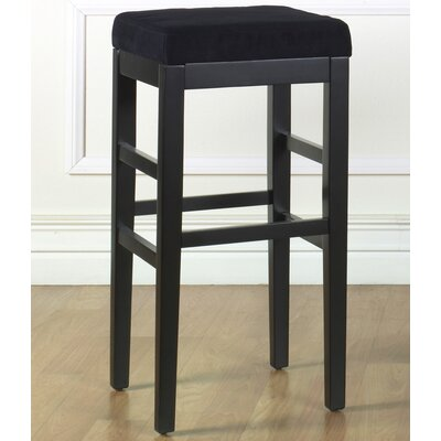 Plymouth 30 Bar Stool Upholstery: Black Microfiber