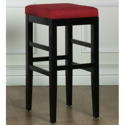 Plymouth 30 Bar Stool Upholstery: Red Microfiber