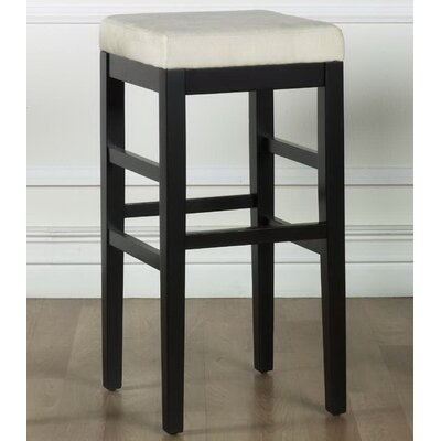Plymouth 30 Bar Stool Upholstery: Beige Microfiber