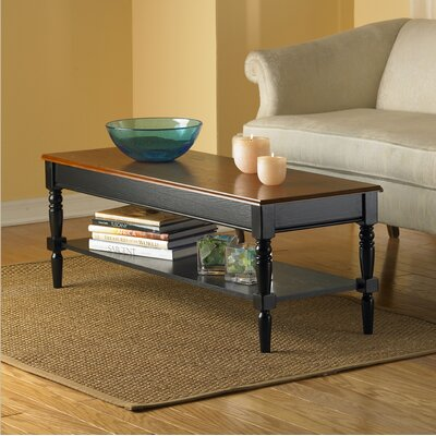 Carlisle Coffee Table with Shelf Top Finish: Brown