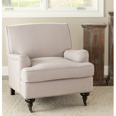 Linen Arm Chair Color: Taupe