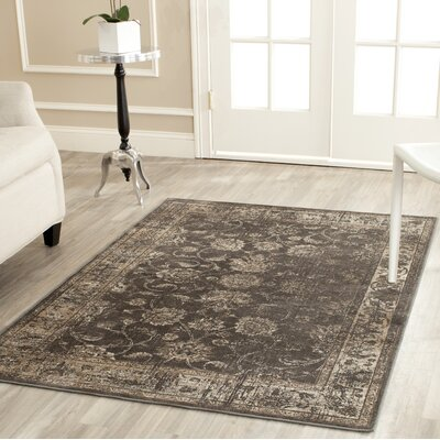 Rindge Soft Anthracite Area Rug Rug Size: Rectangle 76 x 106