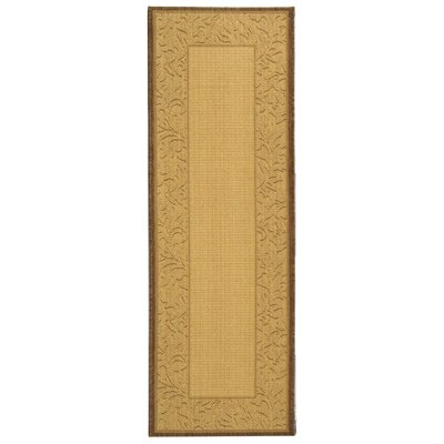 Fenmore Natural/Brown Outdoor Area Rug Rug Size: Runner 24 x 67