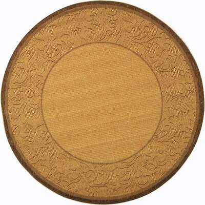 Fenmore Natural/Brown Outdoor Area Rug Rug Size: Round 67