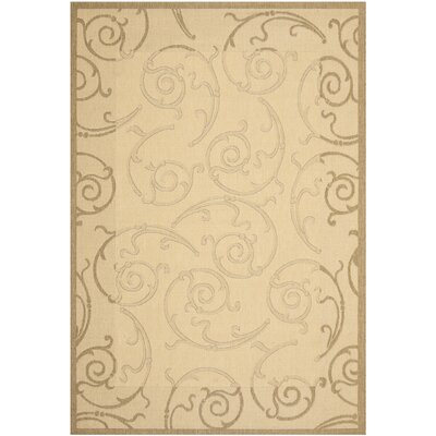 Alderman Natural & Brown Indoor/Outdoor Area Rug Rug Size: 9 x 126