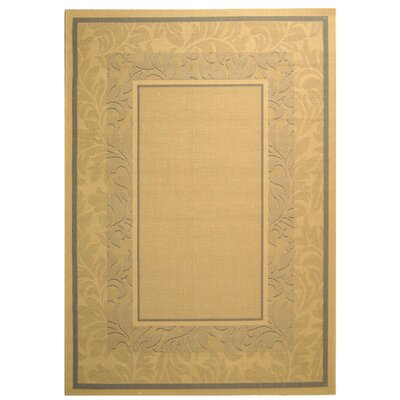 Fenmore Light Brown Outdoor Area Rug Rug Size: Rectangle 710 x 11