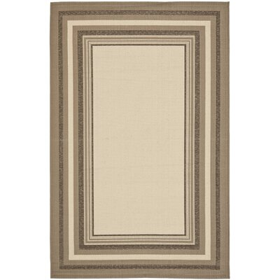 Alderman Nollet Beige/Dark Beige Indoor/Outdoor Area Rug Rug Size: Rectangle 53 x 77