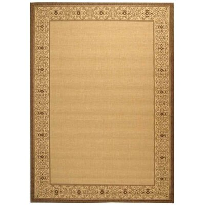 Lansbury Natural/Brown Indoor/Outdoor Rug Rug Size: Square 67