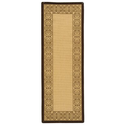 Lansbury Natural/Brown Indoor/Outdoor Rug Rug Size: Runner 24 x 67