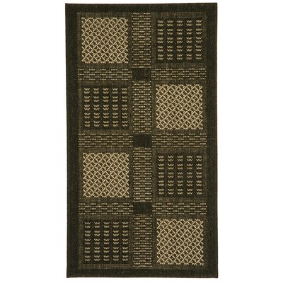 Halvorsen Black/Sand Outdoor Rug Rug Size: Rectangle 2 x 37