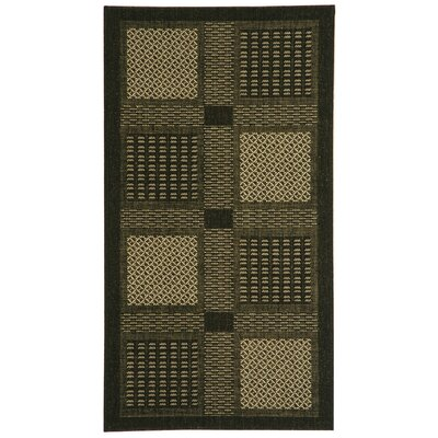 Halvorsen Black/Sand Outdoor Rug Rug Size: Rectangle 4 x 57