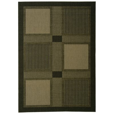 Isaiah Black/Sand Outdoor Rug Rug Size: 67 x 96
