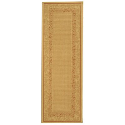 Fenmore Natural Outdoor Area Rug Rug Size: Runner 24 x 67