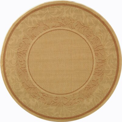 Fenmore Natural Outdoor Area Rug Rug Size: Round 53