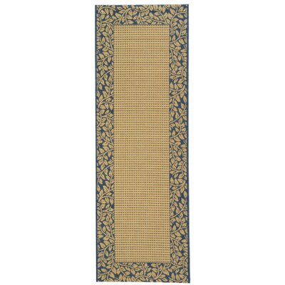 Lippold Brown/Black Outdoor Area Rug Rug Size: Runner 24 x 67