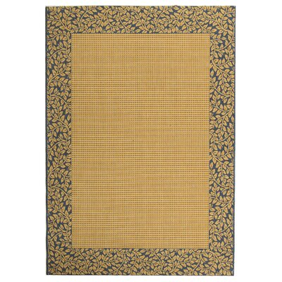 Lippold Brown/Black Outdoor Area Rug Rug Size: Rectangle 53 x 77