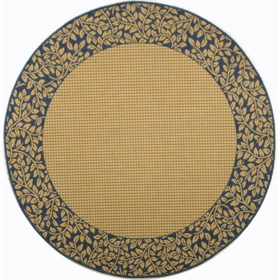 Lippold Brown/Black Outdoor Area Rug Rug Size: Round 53