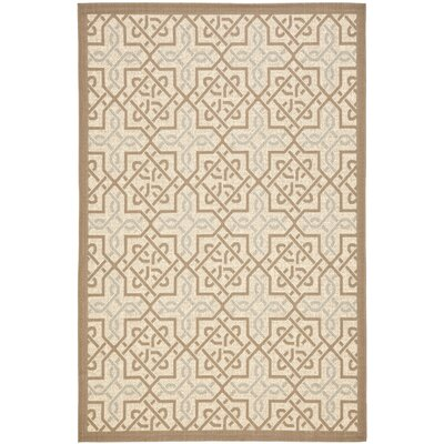 Poole Beige/Dark Beige Indoor/Outdoor Rug Rug Size: Rectangle 4 x 57