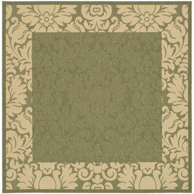 Marland Olive/Natural Outdoor Area Rug Rug Size: Square 67