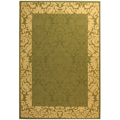 Marland Olive/Natural Outdoor Area Rug Rug Size: 67 x 96