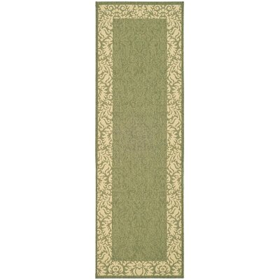 Marland Olive/Natural Outdoor Area Rug Rug Size: Runner 27 x 5