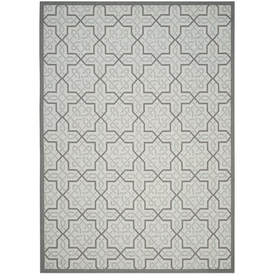 Poole Light Grey/Anthracite Indoor/Outdoor Rug Rug Size: 4 x 57