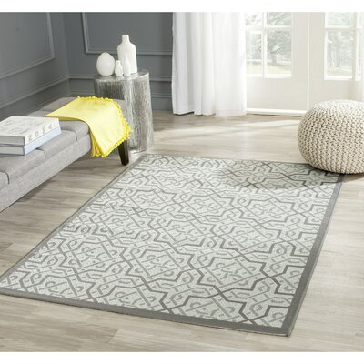 Poole Light Gray/Anthracite Indoor/Outdoor Area Rug Rug Size: Rectangle 4 x 57