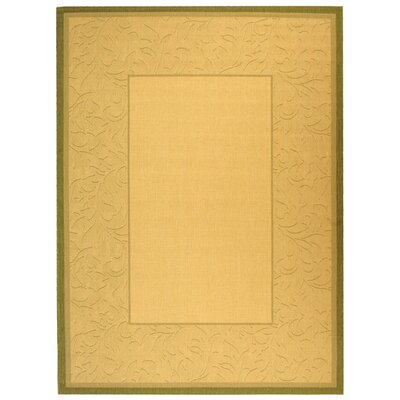 Fenmore Neutral Floral Border Outdoor Rug Rug Size: Rectangle 4 x 57