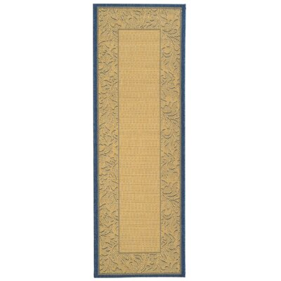 Fenmore Neutral Floral Border Outdoor Rug Rug Size: Runner 24 x 67