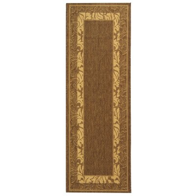 Fenmore Brown/Tan Outdoor Area Rug Rug Size: Runner 24 x 67