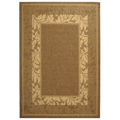 Fenmore Brown/Tan Outdoor Area Rug Rug Size: Round 67